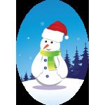 Oval Snowman
