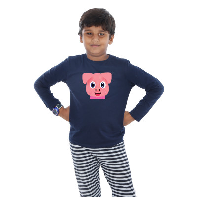 Blue Full Sleeve Boys Pyjama - Brownie