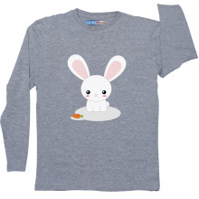 Grey Full Sleeve Boys Pyjama - Bunny Rabbit