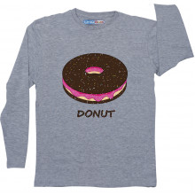 Grey Full Sleeve Boys Pyjama - Donut