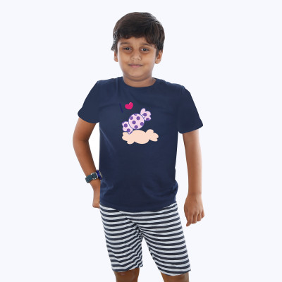 Blue Half sleeve Boys Pyjama - Chocky