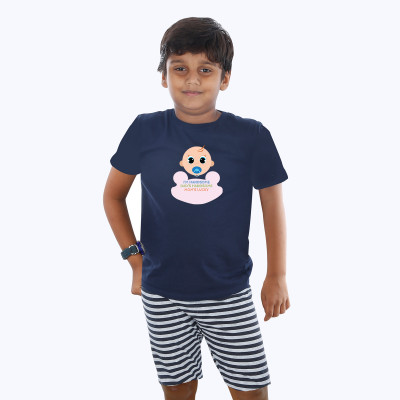 Blue Half sleeve Boys Pyjama - Cute Baby