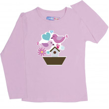 Pink Full Sleeve Girls Pyjama - Happy N Lucky
