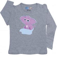 Grey Full Sleeve Girls Pyjama - Bunty