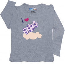 Grey Full Sleeve Girls Pyjama - Chocki