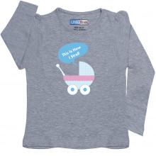 Grey Full Sleeve girls Pyjama - Pram