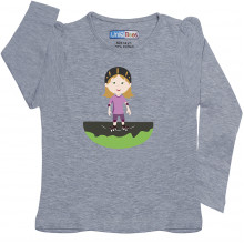 Grey Full Sleeve Girls Pyjama - Roller Skates
