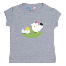 Grey Half Sleeve Girls Pyjama- Eggy