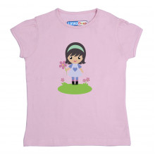 Pink Half sleeve Girls Pyjama- Cute girl