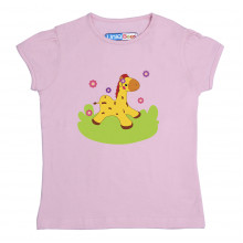 Pink Half sleeve Girls Pyjama- Spotty