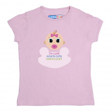 Pink Half sleeve Girls Pyjama - Cute Baby
