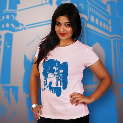 Women Round Neck Pink Tops - Charminar