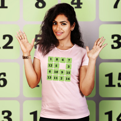 Women Round Neck Pink Tops - Sudoku