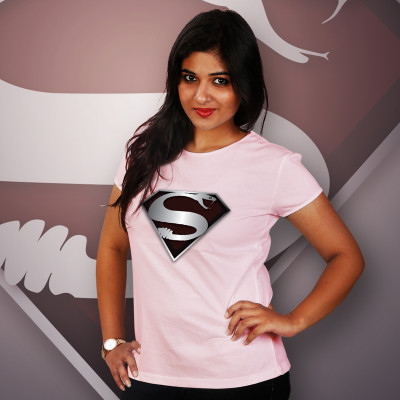 Women Round Neck Pink Tops - Super Snake