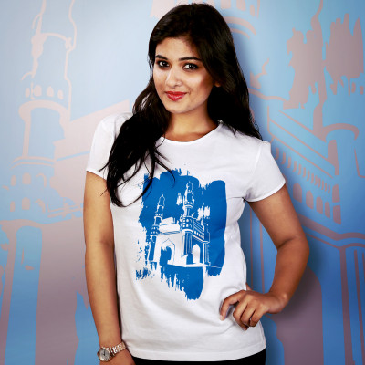 Women Round Neck White Tops- Charminar