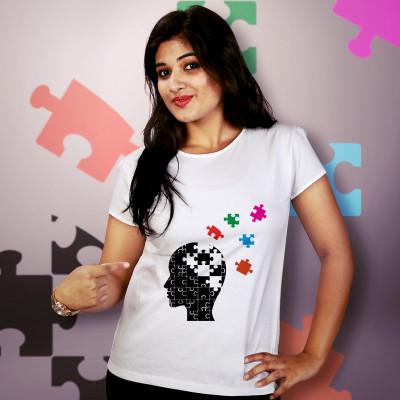 Women Round Neck White Tops- Jigsaw