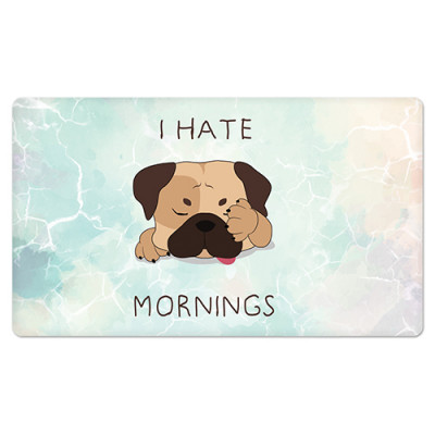 Fridge Magnet Rectangle - Hate Mornings