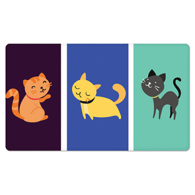 Fridge Magnet Rectangle - Kitties