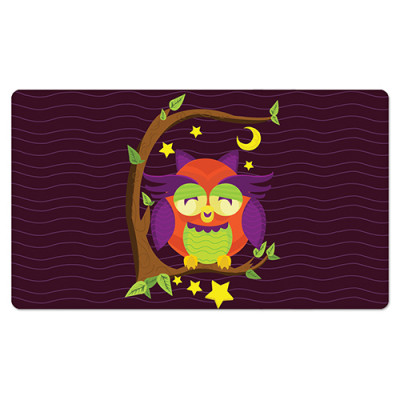 Fridge Magnet Rectangle - Girly Owl