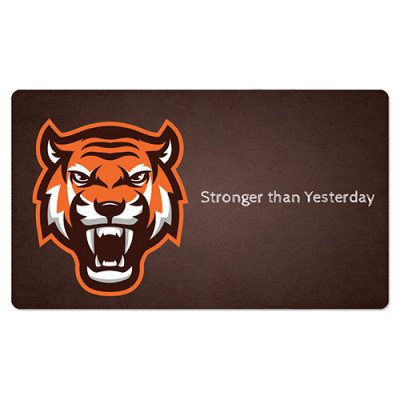 Fridge Magnet Rectangle - Tiger