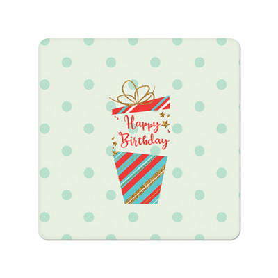 Fridge Magnet Square - Birthday