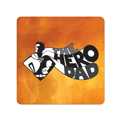 Fridge Magnet Square - Hero Dad