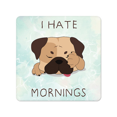 Fridge Magnet Square - Hate Morning