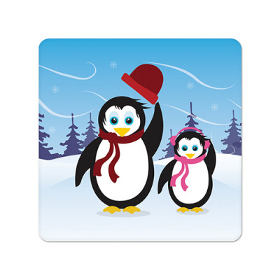 Fridge Magnet Square - Penquin