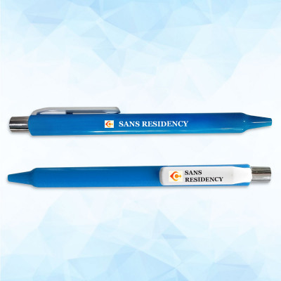 Promotional Blue Pen - 100 Pack