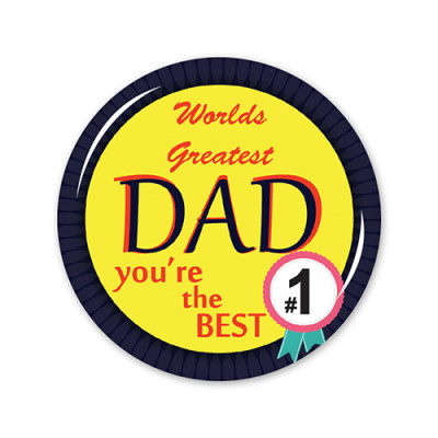 School Badges Large - Best Dad