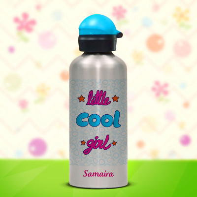 Blue Lid Silver Bottle 600ml