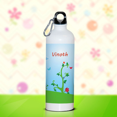Single Lid White Bottle 750ml