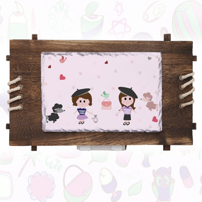 Wooden Stone Frame