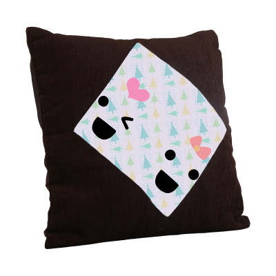 Brown Square Cushion