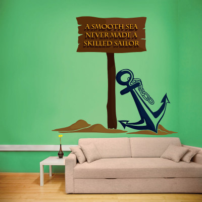 Anchor Quote Wall Decal