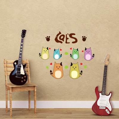 Cats and Paws Wall Decal