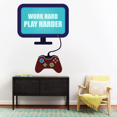 Play Hard Wall Decal