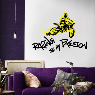 Racing Passion Wall Decal