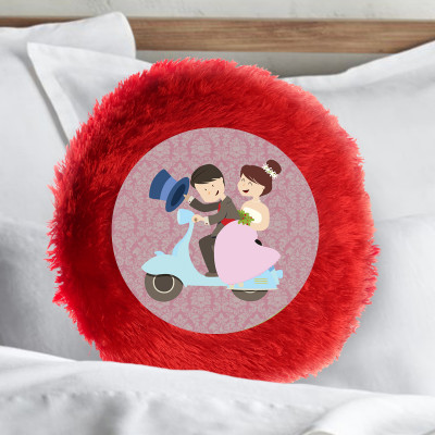 Fur Circle Cushion